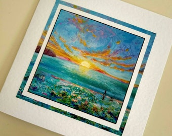 Blank card Dawn Patrol from original painting by Bee Skelton for any occasion birthday gift anniversary thank you