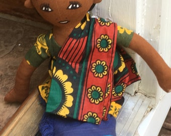 Handmade African Doll with traditional African clothing