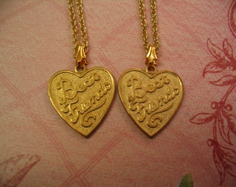 Best Friends Heart Necklaces for Friends Mother Daughter or Sisters