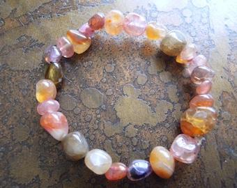 Mix It Up Agate Beaded Stretch bracelet