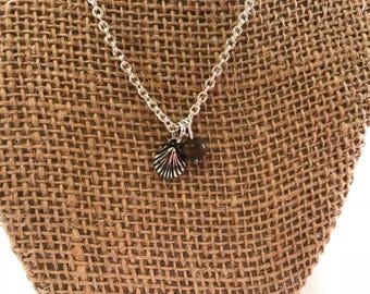 Shell Charm Necklace, Shell Charm Necklace with beads