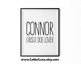 Connor Name Meaning Art - Printable Baby Shower Gift - Nursery Printable Art - Digital Print - Nursery Decor - Typography Wall Decor