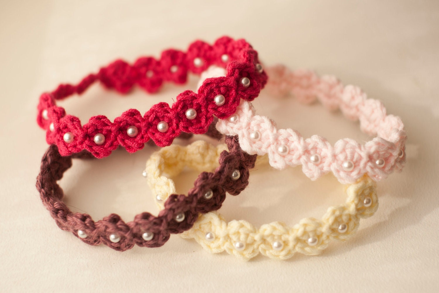 Baby headband pattern crocheted adjustable beaded baby zoom bankloansurffo Image collections