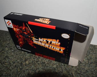 Metal Warriors Super Nintendo SNES Reproduction Box! Best Repros in the world!
