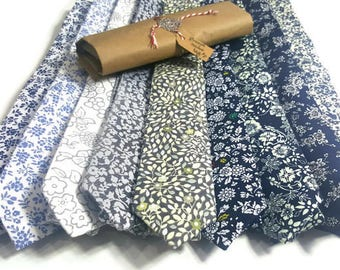 Floral Designs Skinny Ties #7 GIFT PACKAGE for men with Wax Seal & Hand Written Calligraphy. Great for Office Gifts .Fast shipping from US