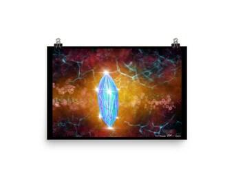 Crystal Poster Digital Art Cosmic Healing
