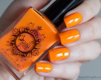 "SPELL Polish indie nail laquer ~My Girl Wants to Party All the Time~ NEON matte from ""80's Dance Revival""!"