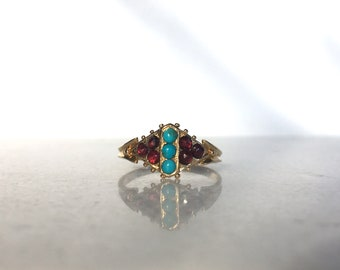 Victorian Etruscan Revival Ring 1869