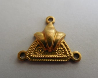 Brass Deco Triangle Connector