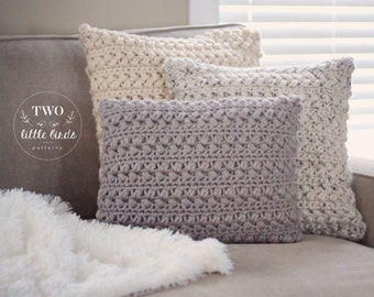 Home Decor, Crochet Pattern, crochet pillow, crochet throw pillow cover, customizable to any square or rectangle pillow, ASPEN PILLOW