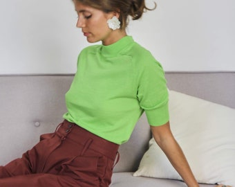 Fine Knit Lime Top