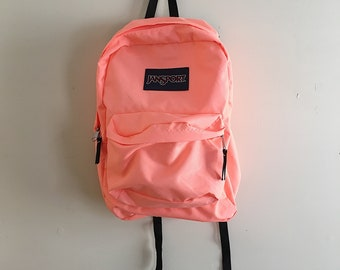 Retro 90s Salmon Pink Jansport Backpack