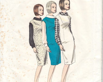 """Vintage Sewing Pattern Vogue 1355 Basic Jumper Dress Size 16 36"""" Bust - Free Pattern Grading E-book Included"""