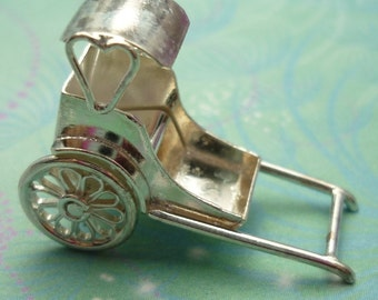 Vintage Sterling Silver Charm - Rickshaw
