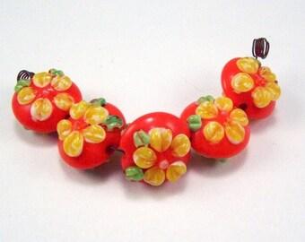 Beautiful Lampwork  - Tropical Florals SRA