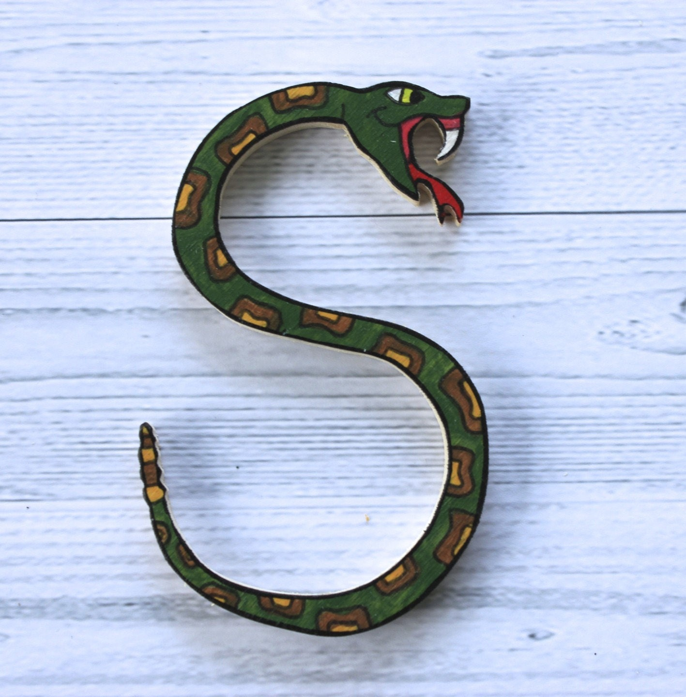 Lettre d corative en bois en forme d 39 animal pour crire - Lettre decorative en bois ...