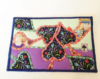 Postcard - Quilted  Postcard - Fabric  Postcard - Artist Postcard - Embroidered  Postcard - Playing Cards Postcard - Appliqued  Postcard