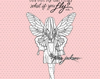What if you fly - instant download digital stamps by Tierra Jackson