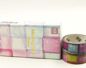 Ice Cube - Japanese Washi Masking Tape Box Set - 3.3 yard - 2 rolls