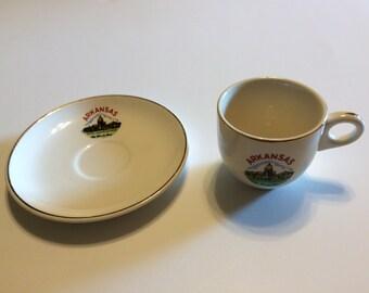Vintage Arkansas Souvenir Cup and Saucer