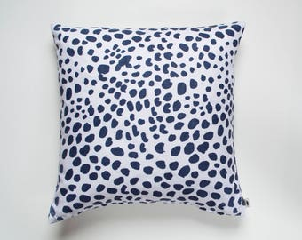 Animal Spot Printed Linen Pillow Cover