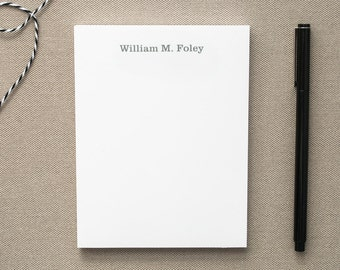 Personalized Notepad with Unisex Design / Personalized Pads of Paper / Small Notepad with Name / Memo Pad / Custom Notepad Stocking Stuffer
