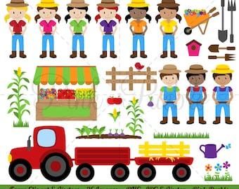 Ferme Clipart clipart, Clipart Farmer Clip Art - usage Commercial et personnel
