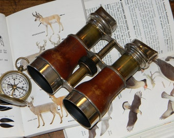 "Outstanding Antique Binoculars Mfg in France by Chevalier, Paris ""Jockey Club"" Model - Great Condition with Wonderful Clarity and Easy Focus"