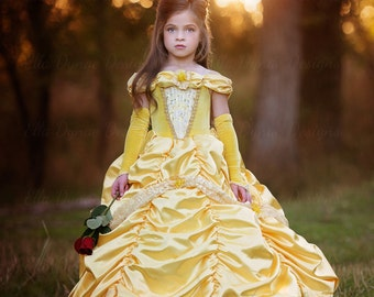 Size 2/3 READY-TO-SHIP Classic Belle Costume in Yellow  sc 1 st  Etsy & Belle of the Ball Princess Gown Infant and Girls