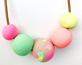Pastel neon necklace
