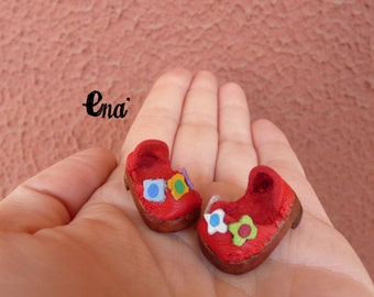 "New!  ""CUKITA"" litlle Leather shoes for mini Muichan doll. 100% handmade."