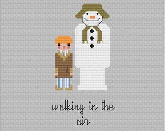 8-Bit Wonder - The Snowman PDF Cross-Stitch Pattern