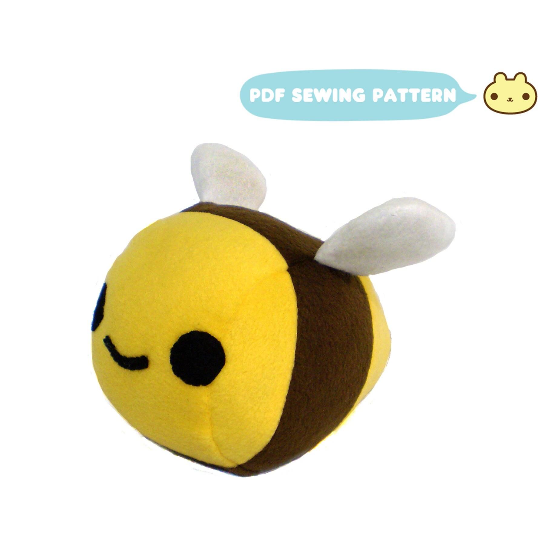 Bee Sewing Pattern Bee Plush Sewing Pattern Plush Bumble