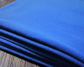 Vintage Medium Weight Royal Blue Knit Fabric, Almost 2 Yds  x 62""