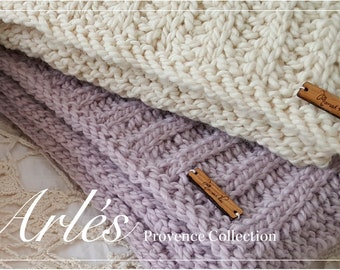 Hand knit alpaca and wool baby blanket, Wool baby blanket, Natural yarn baby blanket,  Ecofriendly baby blanket, Hand knit baby blanket