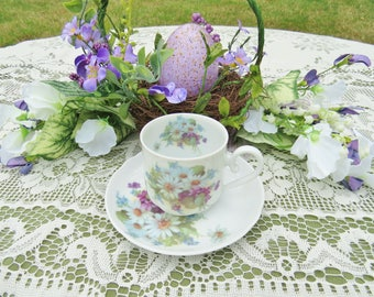 Daisy & Violet Fine China  (Small) Teacup and Saucer