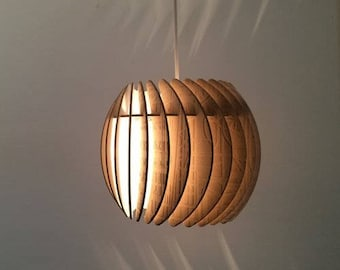"Lamp ""Lola"" vector plan for CNC cutting. parametric lamp designer wooden lampshade"