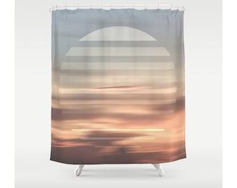 Geometric Clouds Shower Curtain