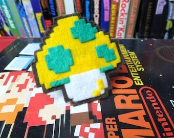 1-Up Mushroom NES felt ring