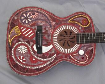 RED ALERT Mosaic Guitar