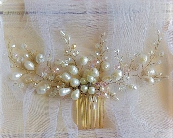Pearl comb Pearl wedding hair accessories Wedding comb Bridal Hair Comb Wedding Hair  Hair jewelry Accessories Bridal Hair Accessories