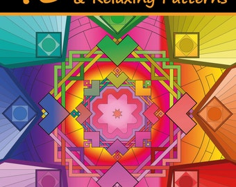 Coloring Books For Adults Volume 5: 40 Stress Relieving And Relaxing Patterns (Animals, Abstract, Mandalas, Zentangle)