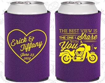 Purple Wedding, Purple Can Coolers, Purple Wedding Favors, Purple Wedding Gift, Purple Party Favors (457)