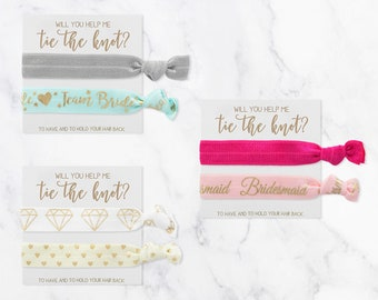 ASSORTED FLORAL Bride Tribe Hair Tie Favors | Flower Bachelorette Hair Ties, Boho Floral Bachelorette Hair Tie Favor, Bridesmaid Gift