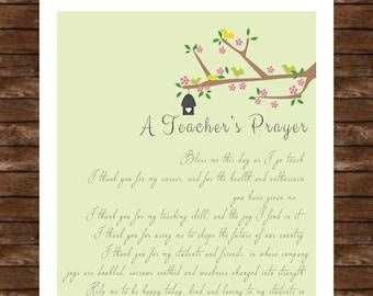 Teacher prayer print
