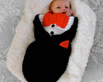 Crochet Tuxedo Cocoon Photo Prop - Newborn - PATTERN ONLY
