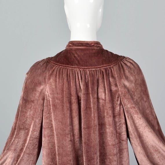 Autumn 1970s 70s Knee X Oscar Tunic Vintage Velvet Small de Separates Comfy Separates Outfit Renta Skirt Loose Length la Winter SWtWc1