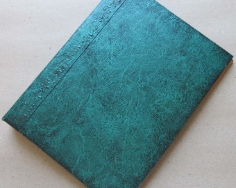 Handmade Refillable Journal Distressed Green 8x6 Original traveller notebook fauxdori