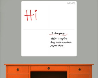 M O D MEMO DRY ERASE decal - Erasable surface wall decals by GraphicsMesh