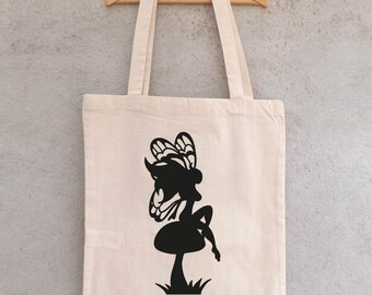 "Tote Bag ""On a mushroom fairy"" - bag shopping - bag shopping bag - shopping bag - cotton bag"